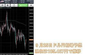 FXで副業 月10万稼ぐコツ  9月25日ドル円相場予想‼️