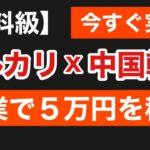 【有料級】 メルカリ × 中国輸入 副業で月5万稼ぐ方法